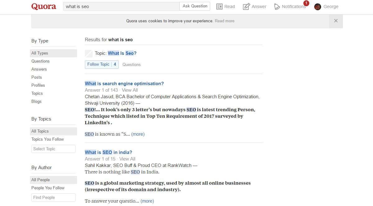 Μηχανή Αναζήτησης Quora