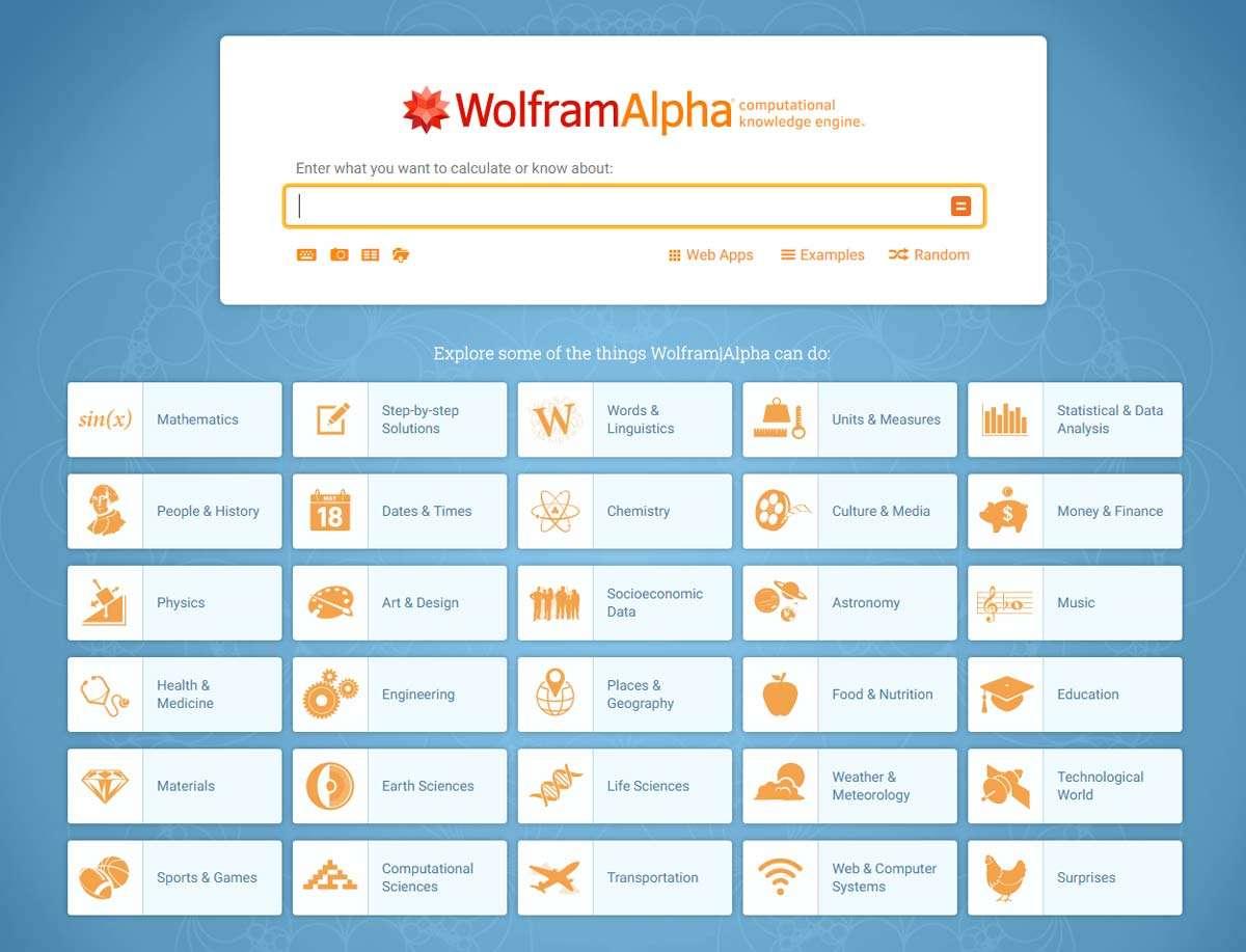 Μηχανή Αναζήτησης Wolfram Alpha