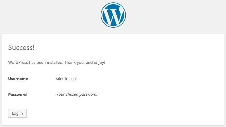 Επιτυχής Εγκατάσταση WordPress - Συγχαρητήρια!